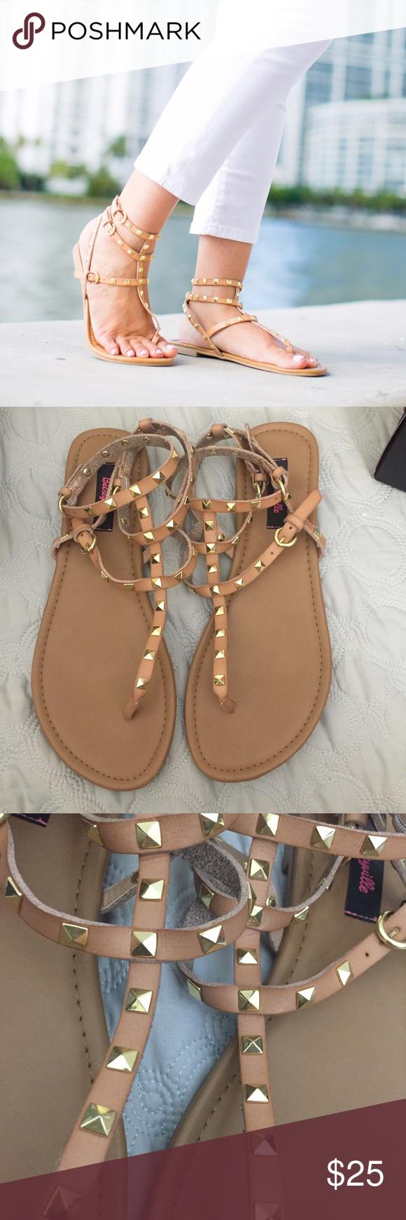 58bc6e3c5baf Betseyville nude studded gladiator sandals These are Betseyville brand  studded gladiator sandals.