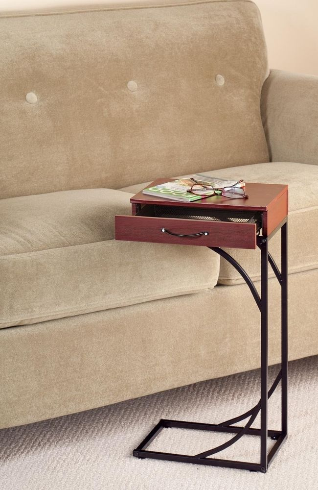 Coffee Table With Storage Drawers In Walnut Finish Use It As A Laptop Desk Well