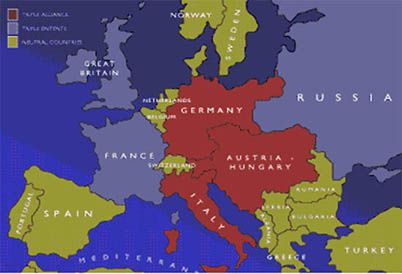Central Powers Alliance With Germany Austria Hungary Bulgaria