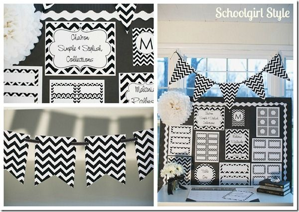 Black White Chevron Clroom Theme By School Style