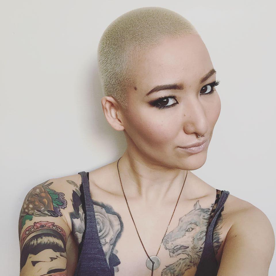 Women with buzz cut hairstyles popsugar beauty uk bald girl