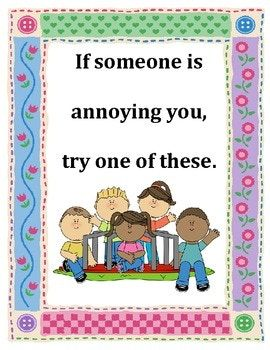 what to do when someone is annoying you conflict resolution poster