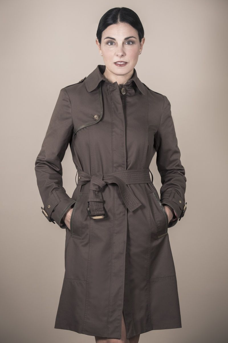 Woman Trench Coat style BLACKPOOL in Khaki