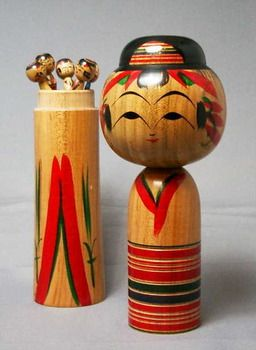 "TraditionalkokeshidollKoichiSatoproduct""five8mother寸""ofYajiroline(cherrywood)"