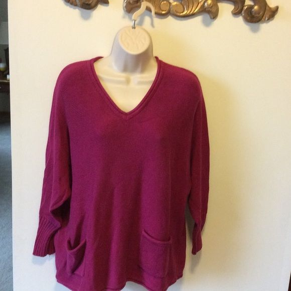525 America oversized cotton sweater WEEKEND SALE Gorgeous magenta ...