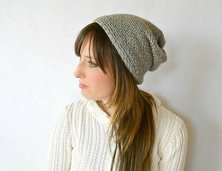 Ravelry: Woven Look Fave Slouch Beanie pattern by Jessica Reeves Potasz