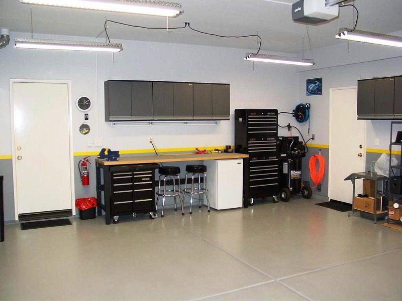 Related image Garage lighting, Garage flooring options