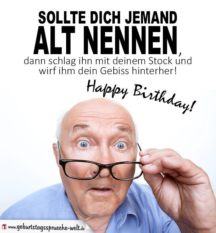 Lustige Sprüche Geburtstag älter Werden