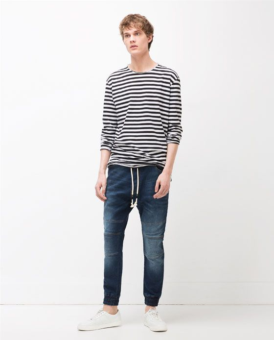 Image 2 of SOFT DENIM TROUSERS from Zara