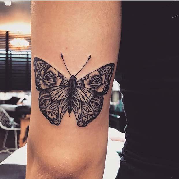 #Beautiful #Butterfly #Design #Ide #Tattoo