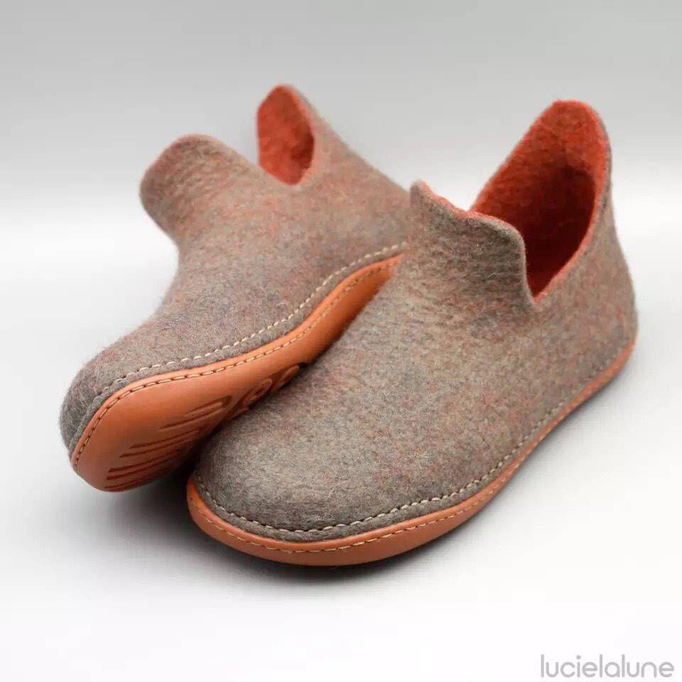 f930eaebea3e6 Pin by lucielalune on = lucielalune footwear = | Shoes, Felt shoes, Wool