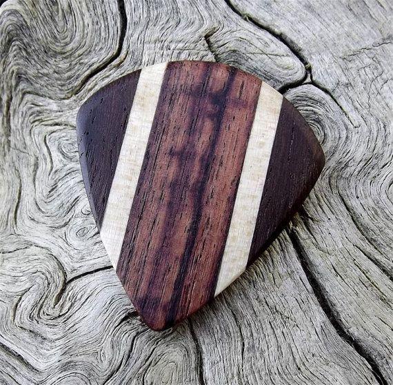 Handmade Multi-Wood Premium Guitar Pick  Jazz by NuevoWoodcrafts