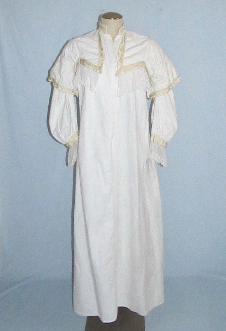 Heavy Cotton Flannel Nightgown Victorian And Edwardian