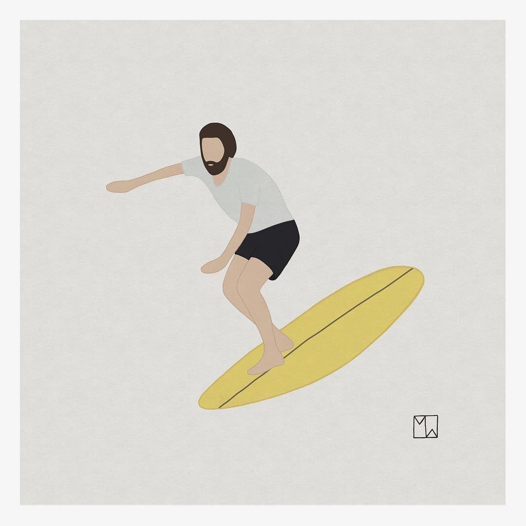 Rad Summer Slider Summer Saltysliders Minisimmons Surfer Rad Slider Art Surfart Illustration Artbymatthewwigglesworth S Surf Art Surfing Culture Art
