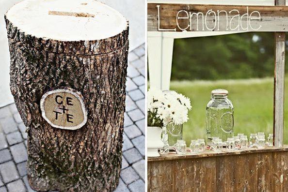 Atree Trunk Wooden Wedding Cardbox 4th Of July Farm Via Ruffled