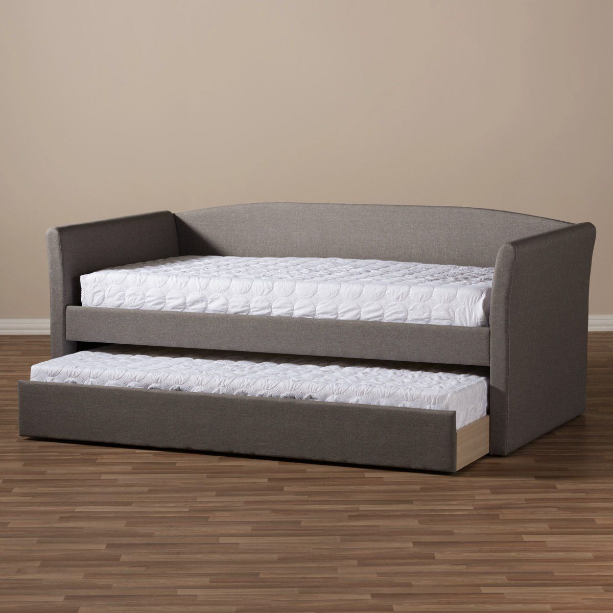 Baxton Studio Camino Grey Daybed With Guest Trundle Bed