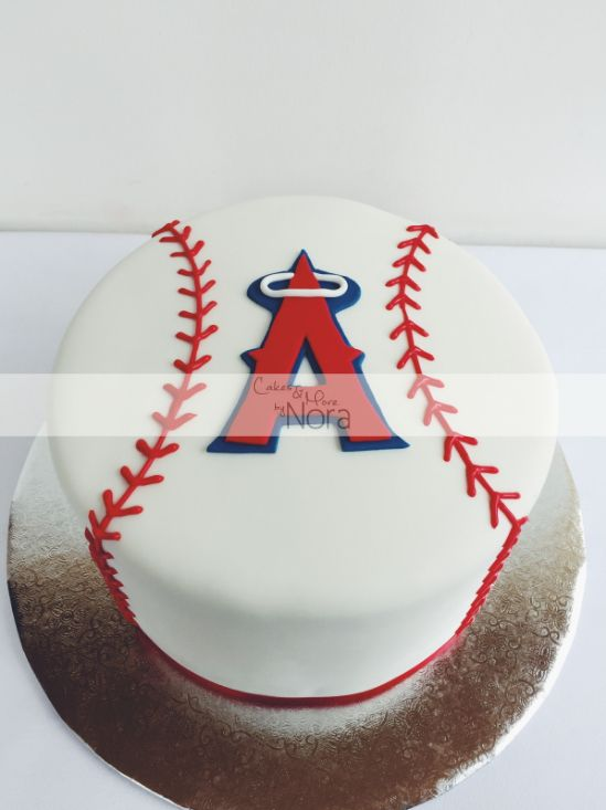 Angels Baseball Cake Cakes And More By Nora Baseball Birthday