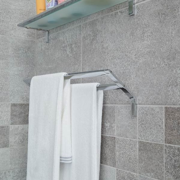 Rio Stainless Steel Bathroom Accessories   600mm Double Towel Rail |  Stainless Steel Bathroom Accessories |