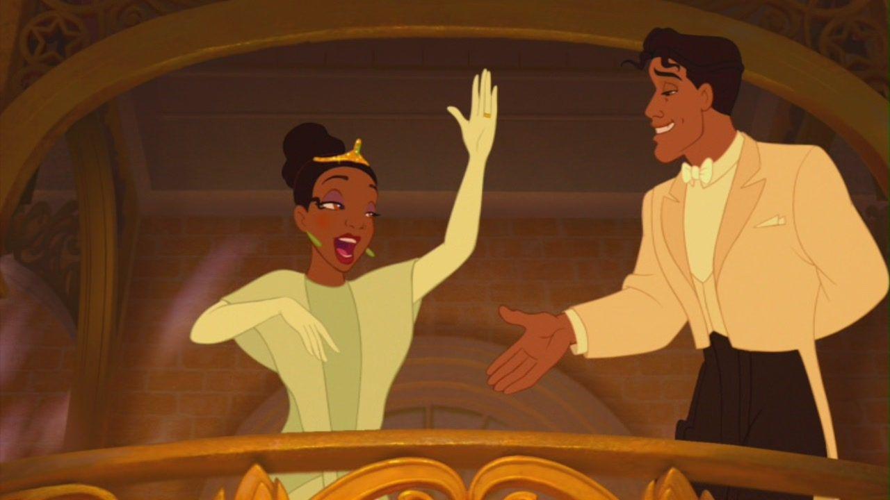 Princess Tiana And Prince Naveen Disney Movie Princess And