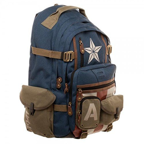 Marvel Captain America Built with Herringbone Backpack    Click image to  review even more details. (This is an affiliate link). effd08cb87718