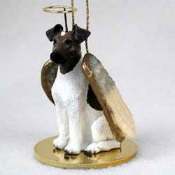 Bouvier Ornament Angel Figurine Hand Painted Uncropped