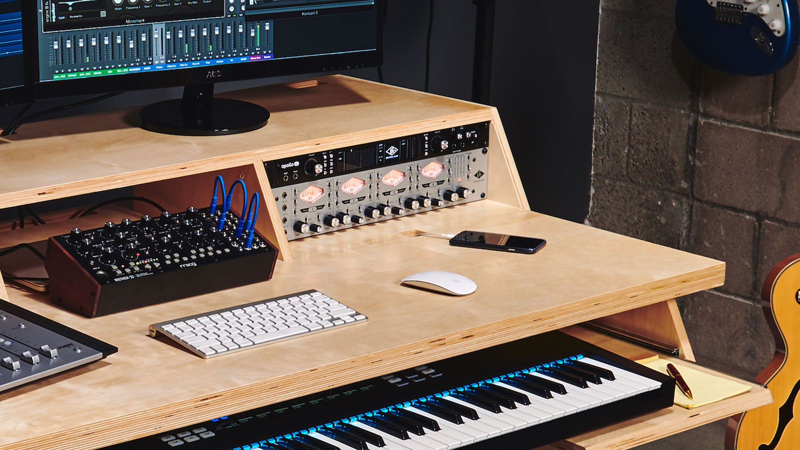 Platform studio desk by Output designed with the modern musician in