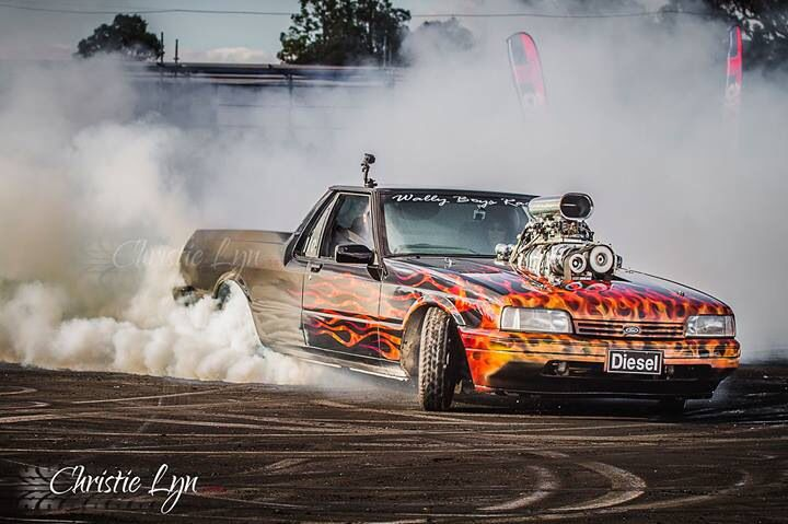 Diesel Burnout Car From Wa In A Custom Built Ford Australian Muscle Cars Hot Rides Cool Cars