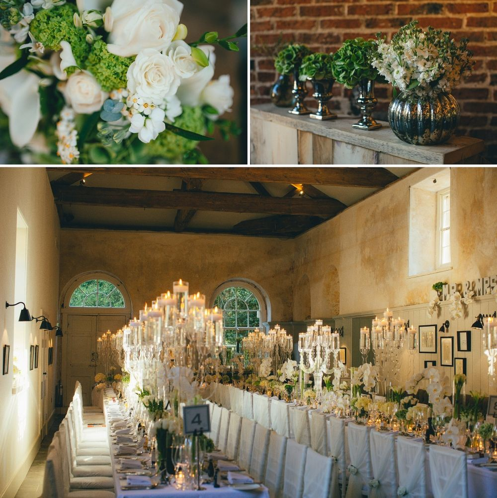 Wedding Ideas, White, Candles. Middleton Lodge Wedding