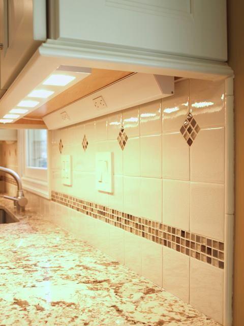 Kitchen Plugmold #39   Details Details Details ~ 1) Under Cabinet Lighting  2) Light Rail Molding 3) Color Matching Trim Plates 4) Plug Mold Outlets  Strips ...