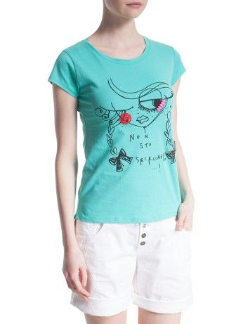 T-shirt stampata con pietre Motivi | Shop online