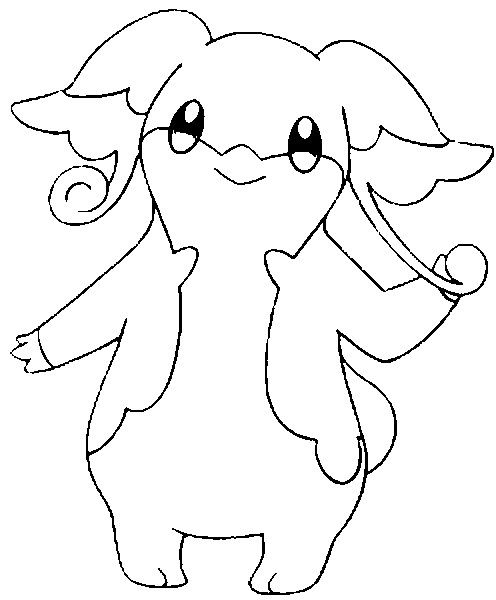 Coloring Pages Pokemon - Audino - Drawings Pokemon | craft ideas ...