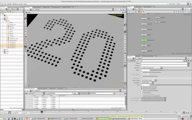 How To Procedurally Cut Holes In A Grid Combining The Old Bevel