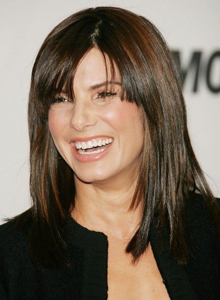 More Straight Guys Here Follow: More Pics Of Sandra Bullock Medium Straight Cut With Bangs
