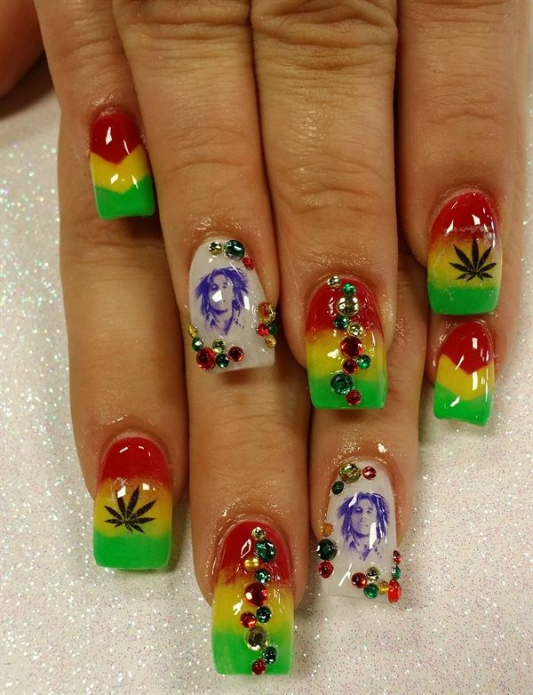 Day 110: Rastafarian Nail Art | Nails magazine, Art nails and ...
