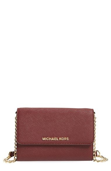 550590cc329f MICHAEL+Michael+Kors+ Jet+Set+-+Large+Phone +Saffiano+Leather+Crossbody+Bag +available+at+ Nordstrom