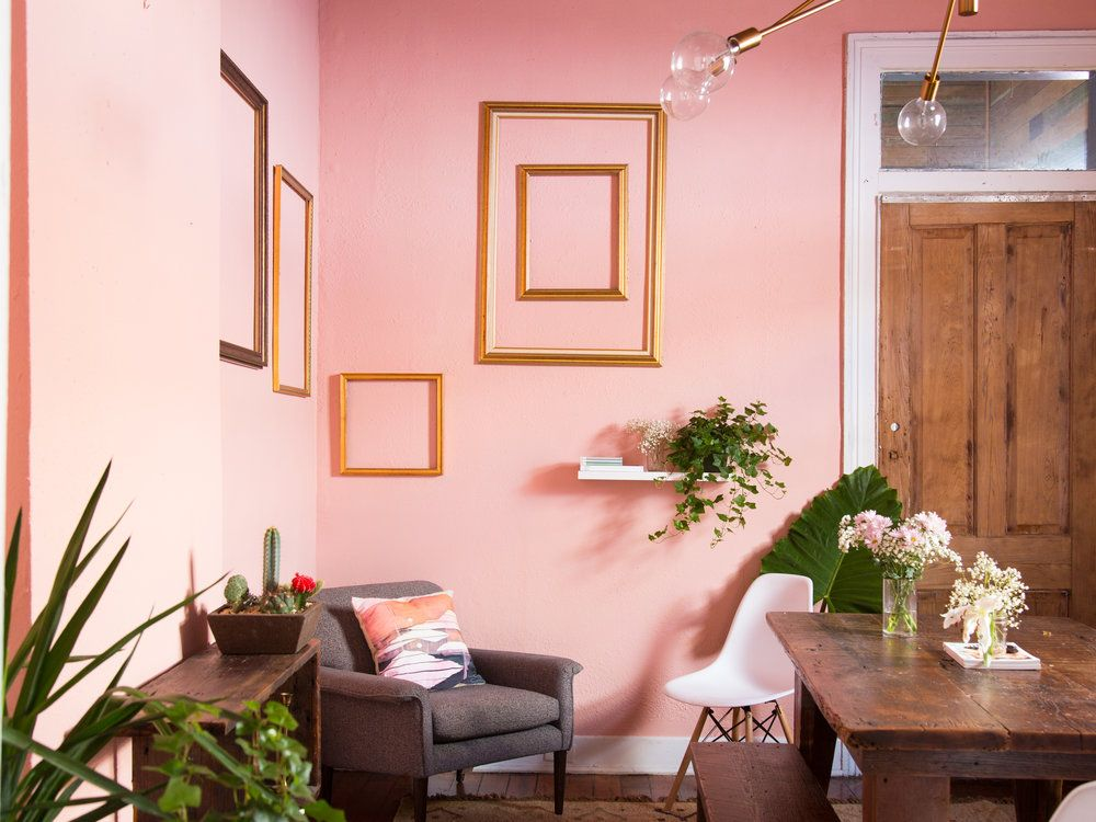 Jan 9 Pretty in Pink: Dining Room Makeover | Spaces, Walls and Room