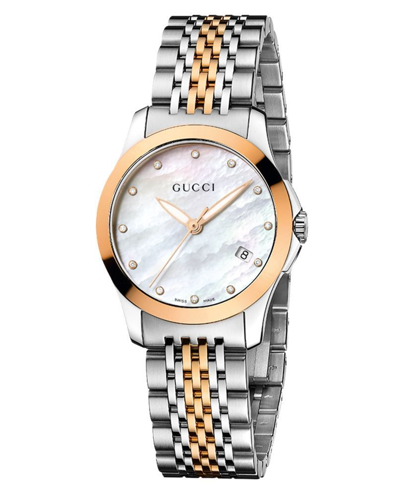 5f99928dce6 Women s Swiss G-Timeless Two Tone Stainless Steel Bracelet Watch ...