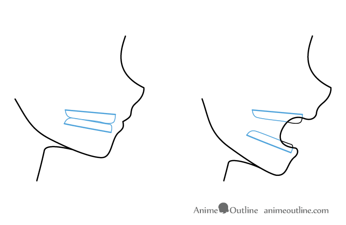 Anime Mouth Jaw And Teeth Side View Anime Mouth Drawing Anime Drawings Manga Mouth