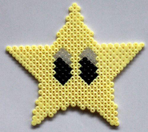 Hama Super Mario Star