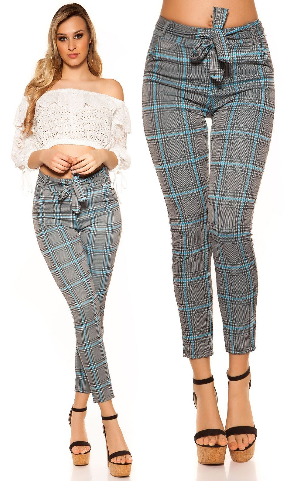 6e47452a0 Kockás leggings öves derékkal 5 színben (S-M,L-XL) | Nadrág, Farmer ...
