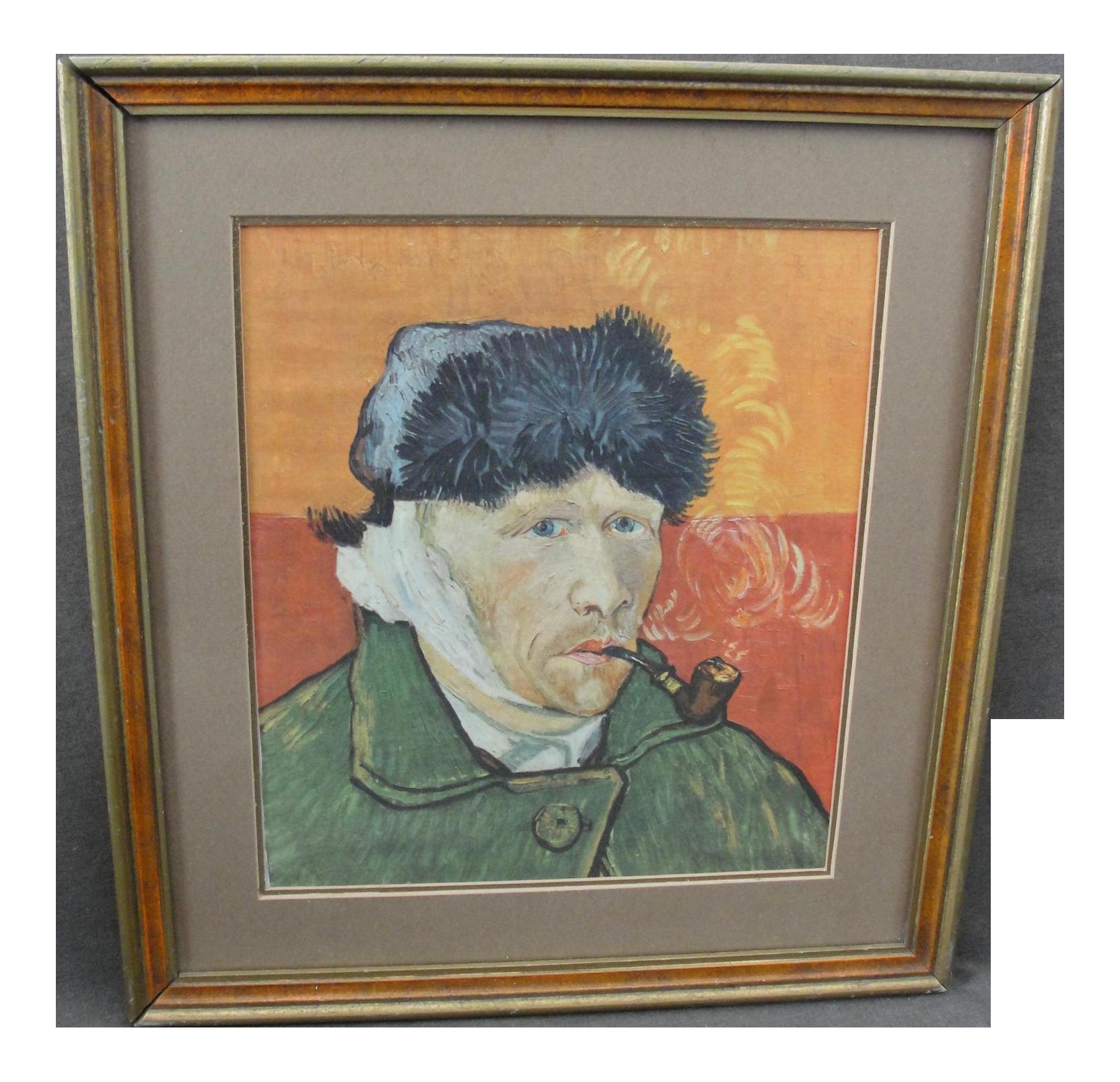 Framed Van Gogh Silk Self Portrait On Chairish