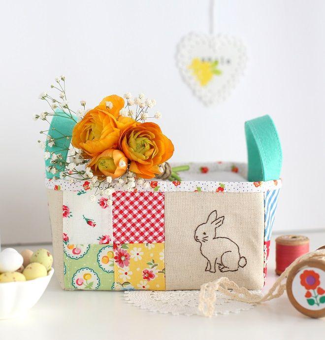 Cafenohut: Minik Tavşanlı Sepetcik - Cute Easter Basket