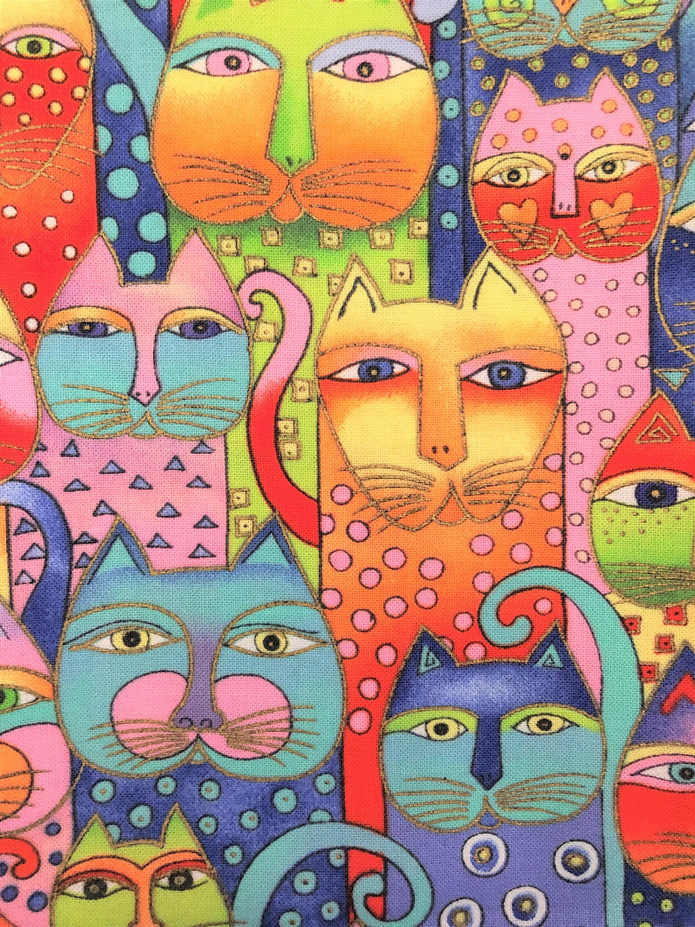 Cats by Laurel Burch Fabric Yardage/Remnant/Fat Quarter