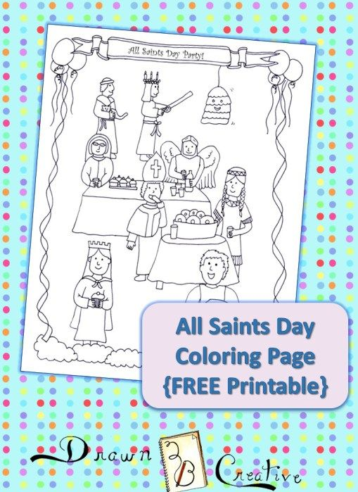 All Saints Day Coloring Page Drawn2bcreative All Saints Day Coloring Pages All Souls Day