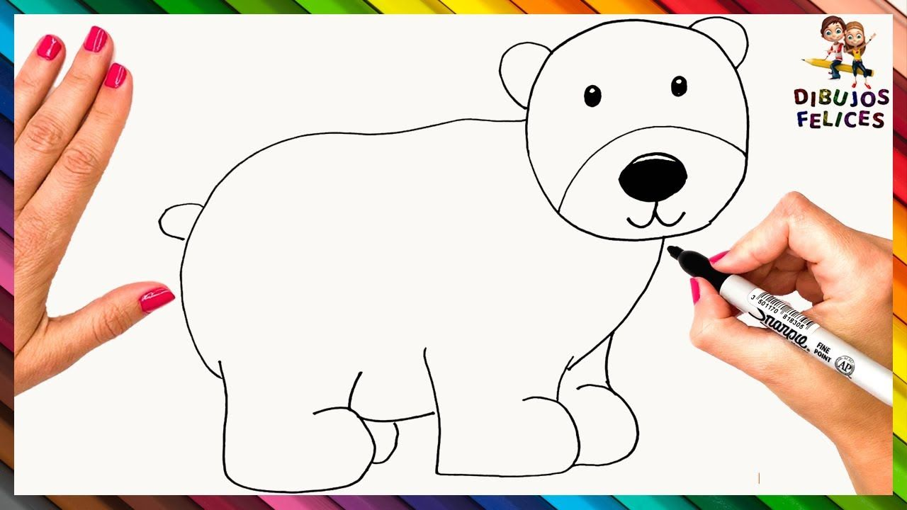 Como Dibujar Un Oso Polar Paso A Paso Dibujo De Oso Polar Como Dibujar Un Oso Dibujos De Osos Oso Polar Dibujo