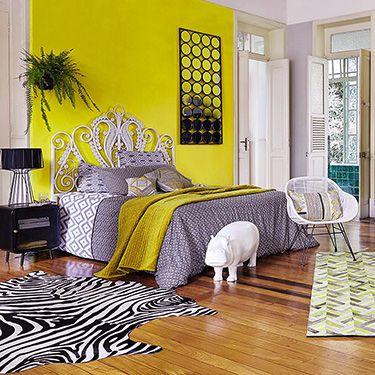 Maisons du monde inspiration exotique mur jaune des couleurs dans la chambre en 2019 - Deco chambre exotique ...