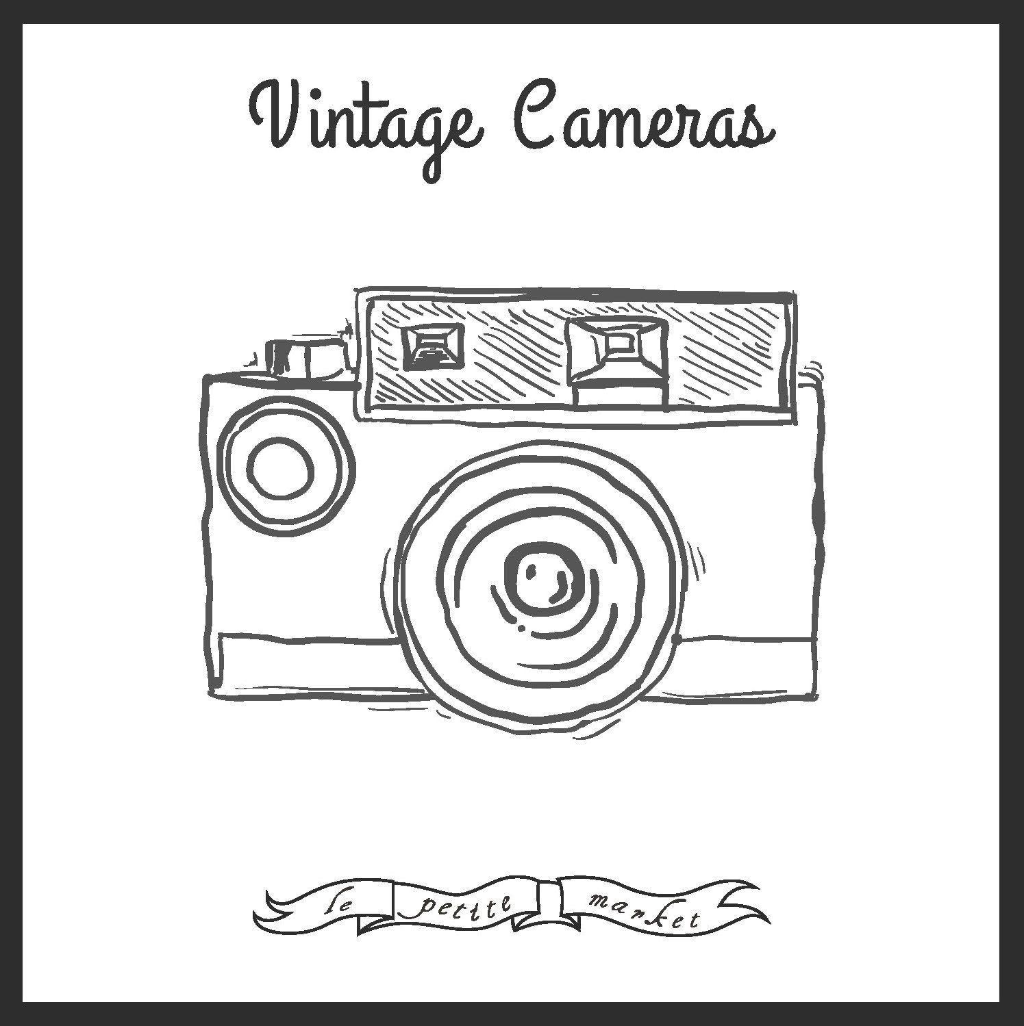 Cute Hand Drawn Camera Clip Art Vintage Illustration Camera Illustration Art Photography Clip Art In 2021 Clip Art Vintage Clip Art Camera Clip Art