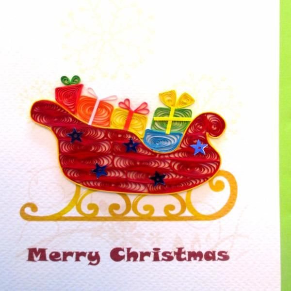 Sleigh Ride (4 cards/ pkg) Quilling, Christmas cards and Keepsakes