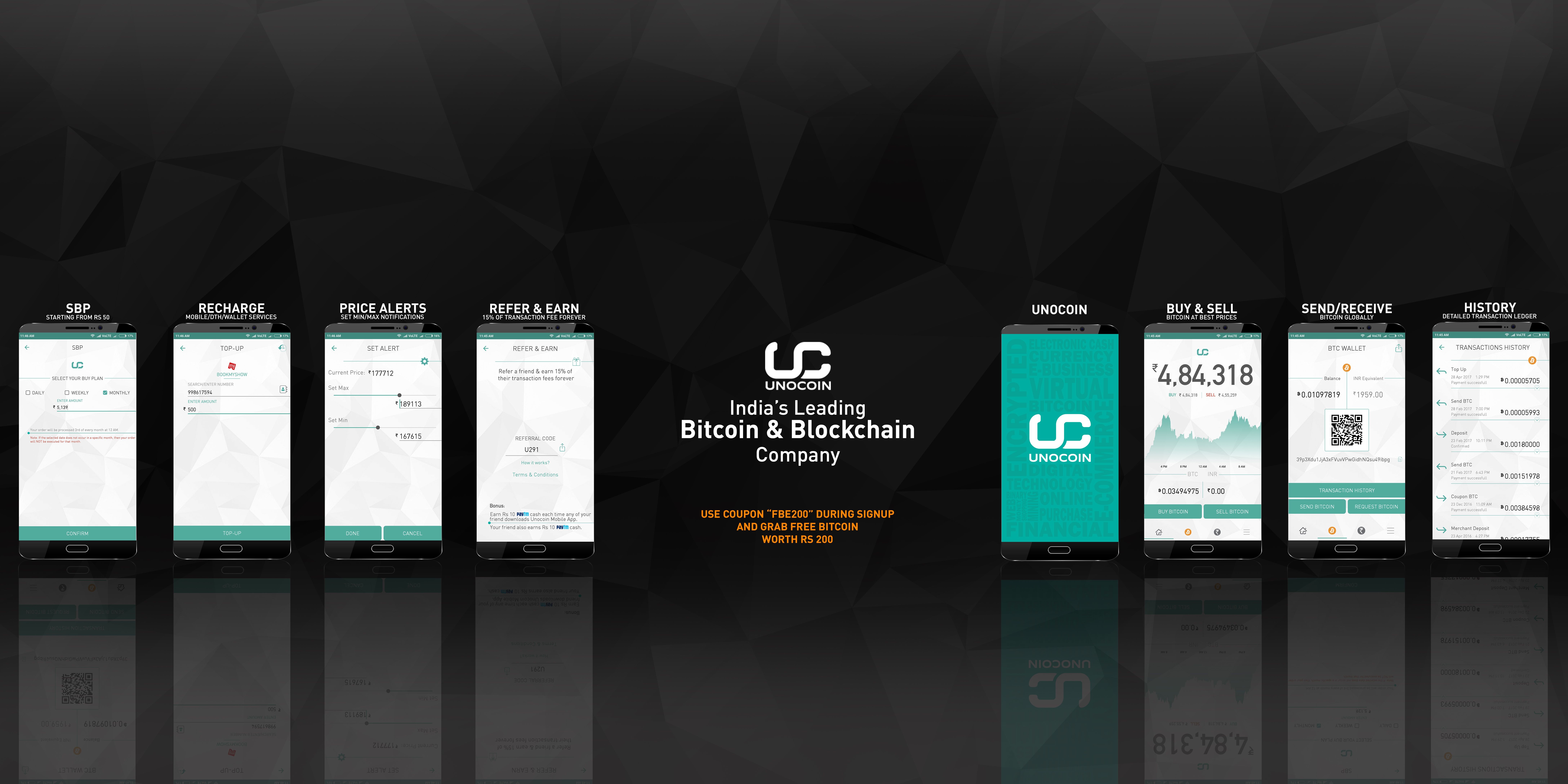 Unocoin is your one stop solution for bitcoin services