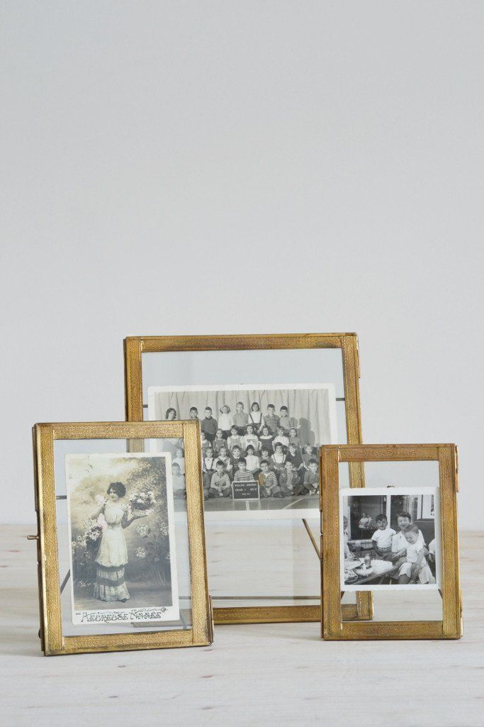 double sided picture frame standing brass - Double Sided Picture Frame